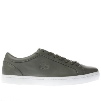 Lacoste Khaki Straightset Womens Trainers