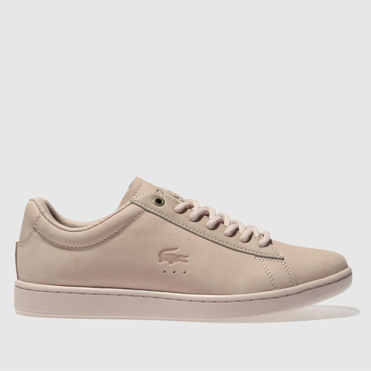Lacoste Pale Pink Carnaby Evo Trainers