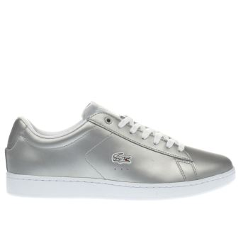 Lacoste Silver Carnaby Evo Womens Trainers