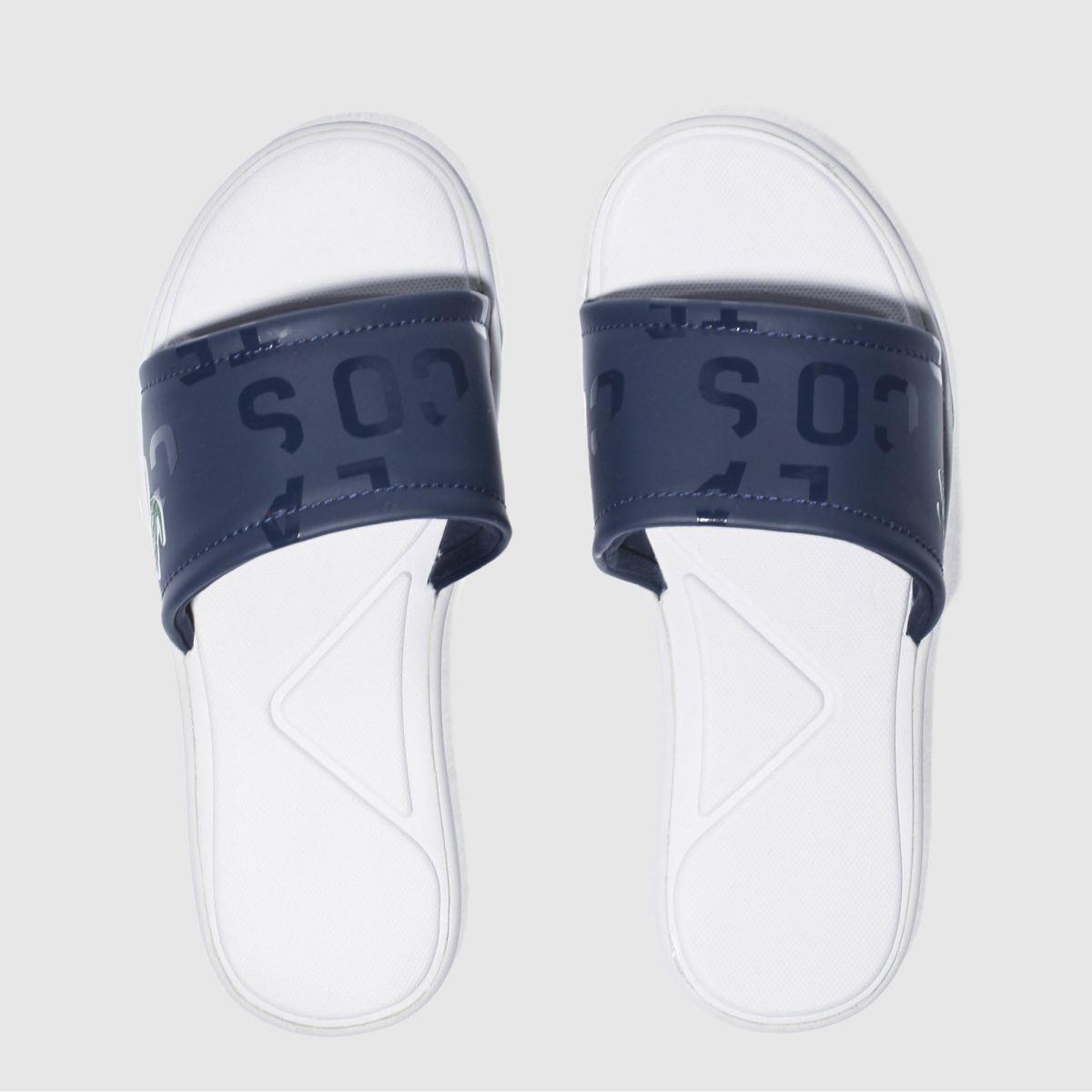 lacoste navy l.30 slide sandals