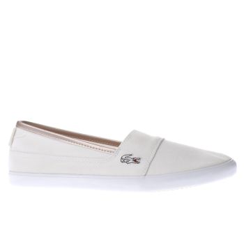 Lacoste White Marice Metallic Piqué Womens Trainers