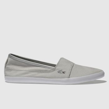 Lacoste Light Grey MARICE METALLIC PIQUÉ Trainers