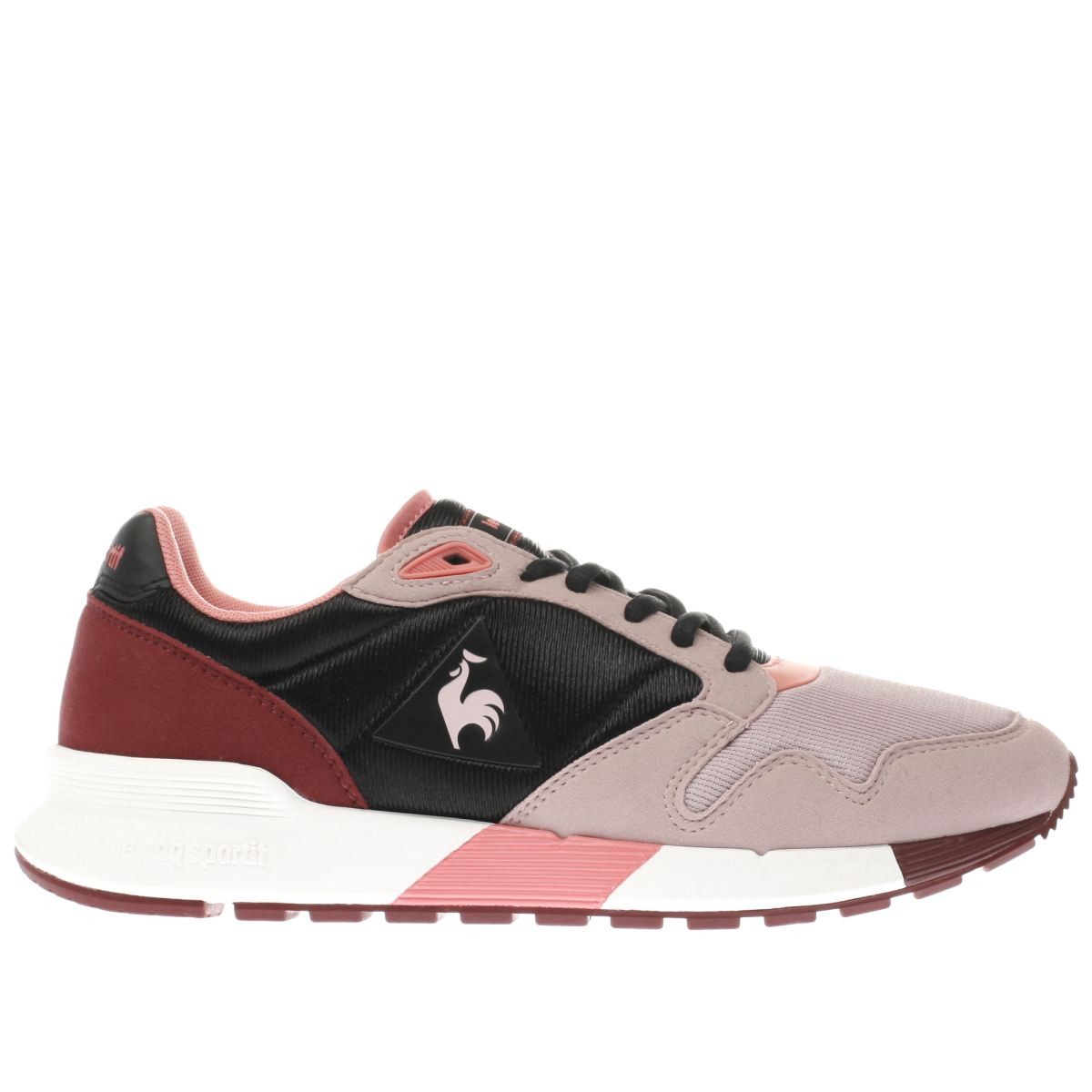 le coq sportif black & pink omega x mesh trainers