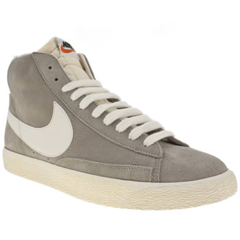 womens nike light grey blazer suede vintage trainers