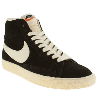 womens nike black blazer mid trainers