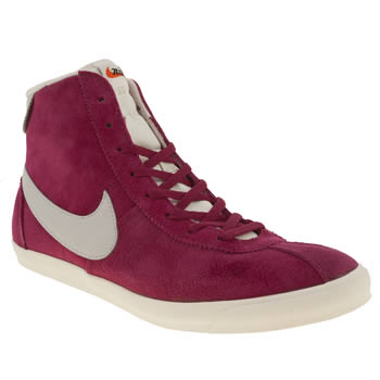 Womens Nike Pink Bruin Lite Mid Suede Trainers