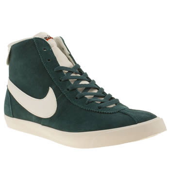 womens nike green bruin lite mid suede trainers