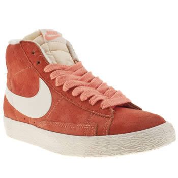 Nike Orange Blazer Mid Suede Trainers