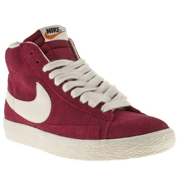 womens nike red blazer mid suede trainers