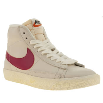 Womens Nike Lilac Blazer Mid Leather Trainers