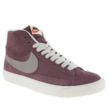 womens nike lilac blazer mid suede trainers