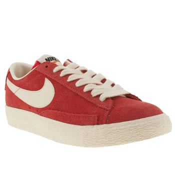 Nike Red Blazer Low Suede Trainers