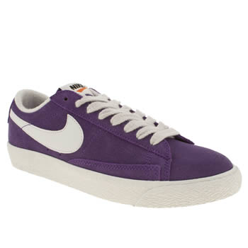 womens nike purple blazer low suede trainers