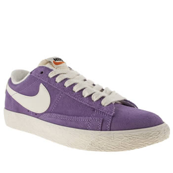 Womens Nike Lilac Blazer Low Suede Trainers