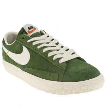 womens nike green blazer low suede trainers
