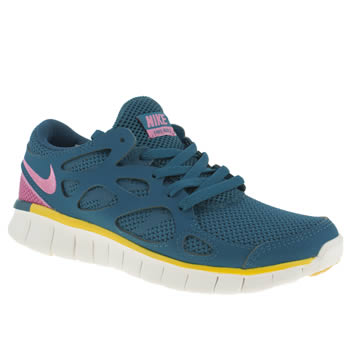 Womens Nike Blue Free Run 2 Trainers