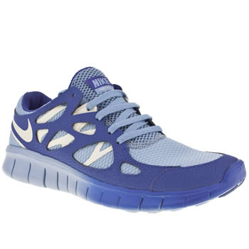 womens nike pale blue free run 2 trainers