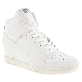 womens nike white dunk sky high ii trainers