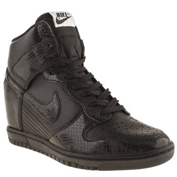 Womens Nike Black Dunk Sky High Ii Trainers
