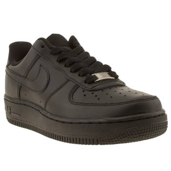 Womens Nike Black Air Force 1 06 Low Trainers