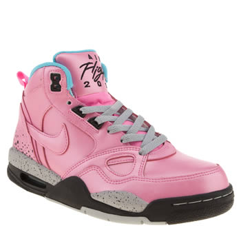 Nike Pink Flight 13 Mid Trainers