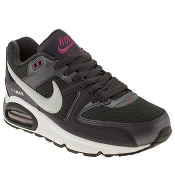 womens nike dark grey air max command trainers