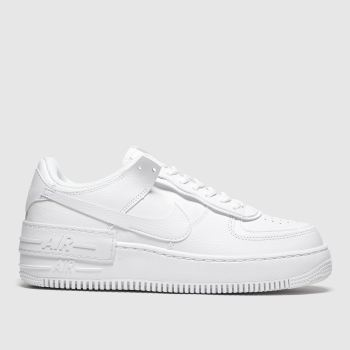 womens nike white air force 1 mid trainers