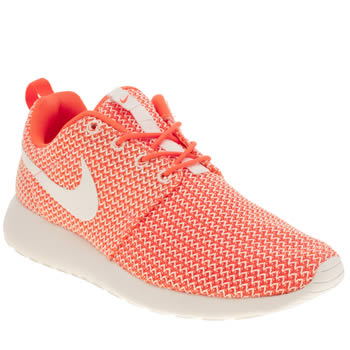 Womens Nike White & Orange Roshe Run Trainers
