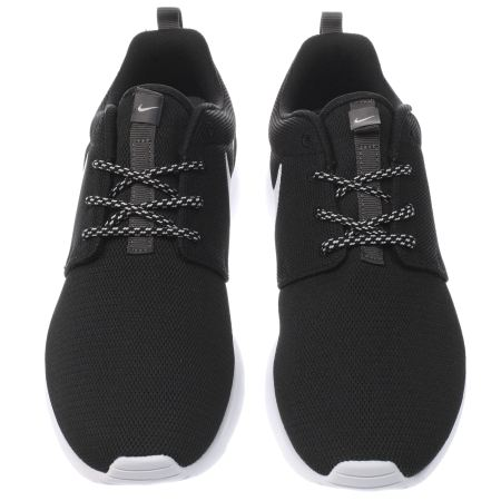 owbdv Womens Black & White Nike Roshe One Trainers | schuh