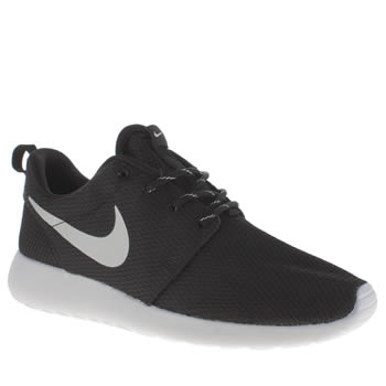 Nike Black & Silver Roshe Run Trainers