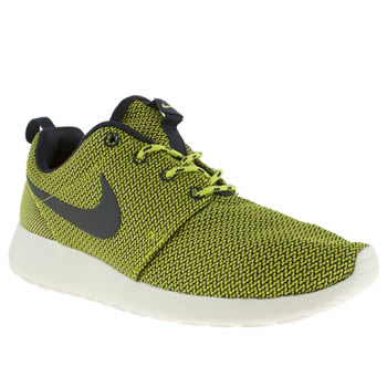 womens nike black & green roshe run ii trainers