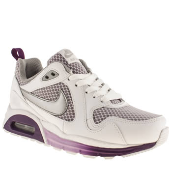 Nike White & Purple Air Max Traxx Trainers