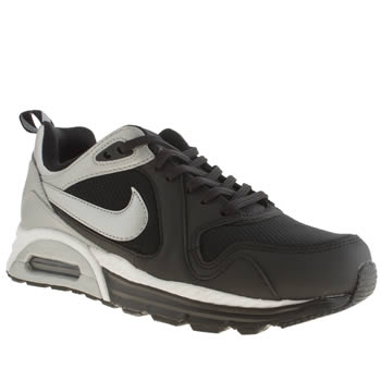 womens nike black & silver air max traxx trainers
