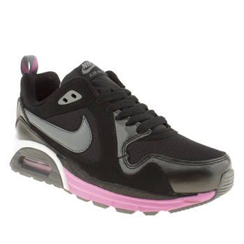 womens nike black & pink air max traxx trainers