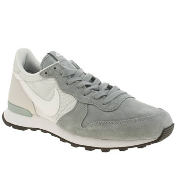 Womens Nike White & grey Internationalist Trainers