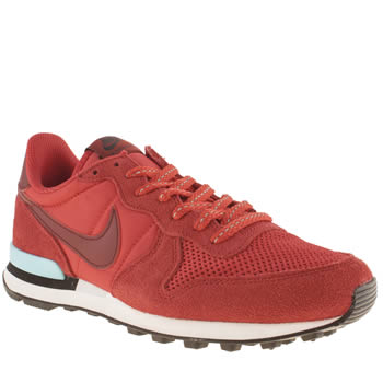 womens nike red internationalist trainers