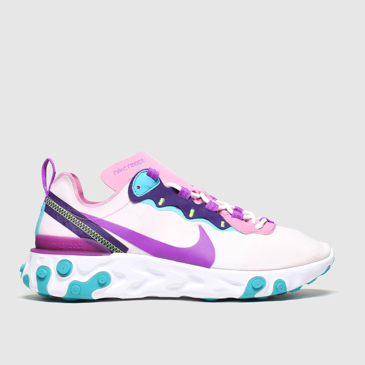 Nike Nike Pale Pink React Element 55 Trainers
