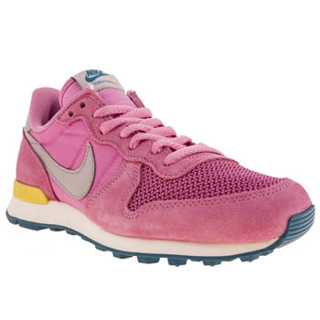 womens nike pink internationalist trainers