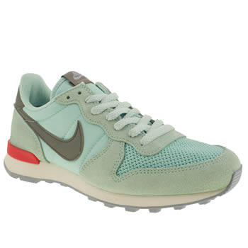 womens nike pale blue internationalist trainers