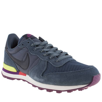 womens nike navy internationalist trainers