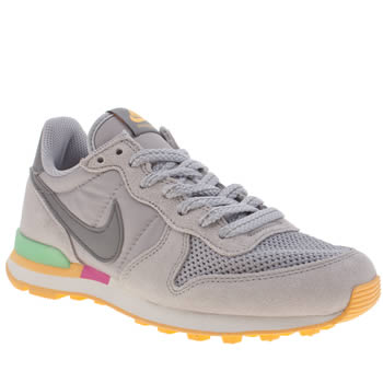 womens nike light grey internationalist trainers