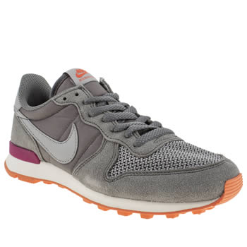 womens nike grey internationalist trainers
