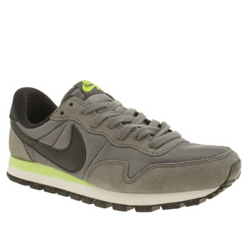 Womens Nike Grey & Lime Pegasus 83 Trainers