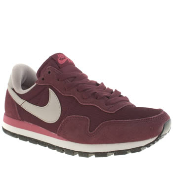Nike Burgundy & Grey Pegasus 83 Trainers