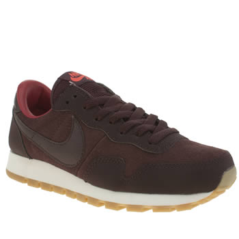 Womens Nike White & Burgundy Pegasus 83 Trainers