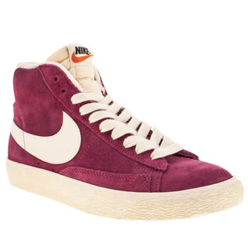 Nike Pink Blazer Mid Suede Trainers