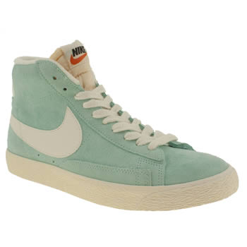 womens nike pale blue blazer mid trainers