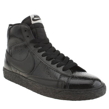 Womens Nike Black Blazer Mid Leather Premium Trainers