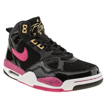 Nike Black & pink Flight 13 Trainers