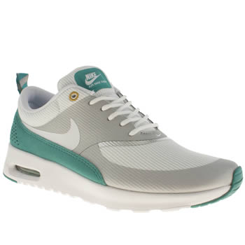 womens nike white & green air max thea trainers